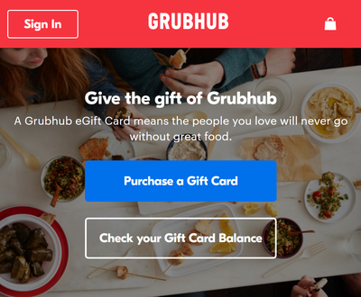 GrubHub Gift Card for Mrs. Cullinan - Group Gift for Mrs. Cullinan
