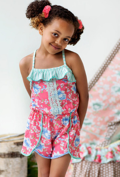 f6709a91288 Matilda Jane - Happy and Free! - Tropical Butterfly Romper - size 4